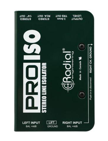 Radial Pro-ISO +4/-10 dB Stereo Line Isolator