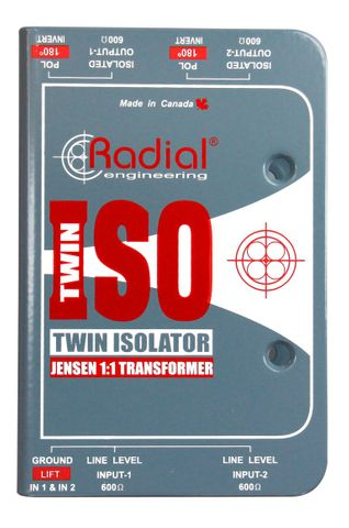 Radial Twin-Iso - Two Channel Line Level Isolator