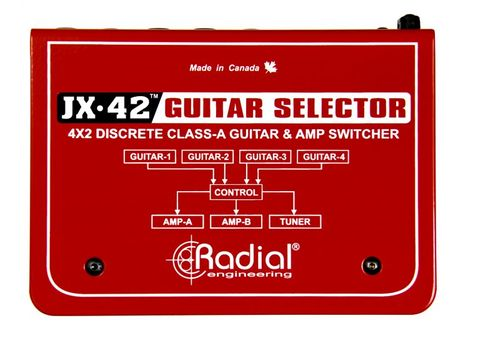 Radial JX42 Compact Four-Input Guitar Switcher