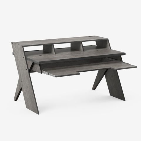 Output Platform Studio Desk with Keyboard tray (Grey)