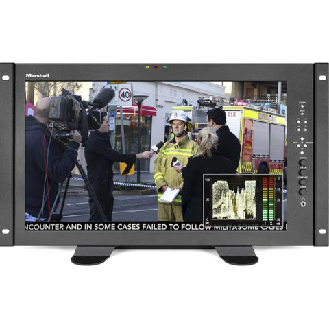 "Marshall 17.3"" Full HD Desktop Mount Monitor - HDMI & 3GI"