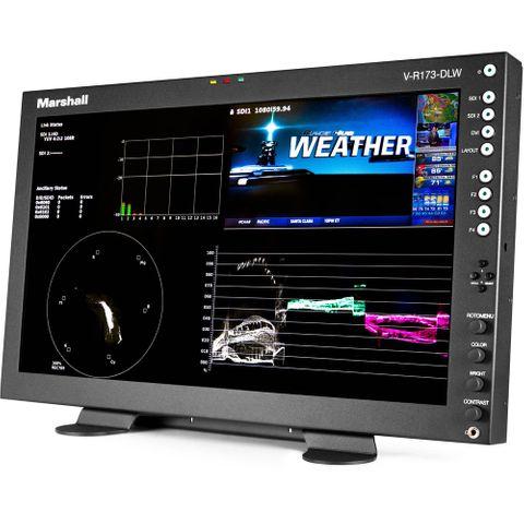 """Marshall 17.3"""" Desktop Mount Dual Link/Waveform Monitor"""