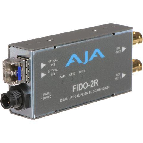 AJA FiDO Dual-Channel LC Fiber to 3G-SDI Mini Converter