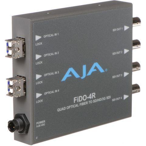 AJA FiDO Quad-Channel LC Fiber to 3G-SDI Mini Converter