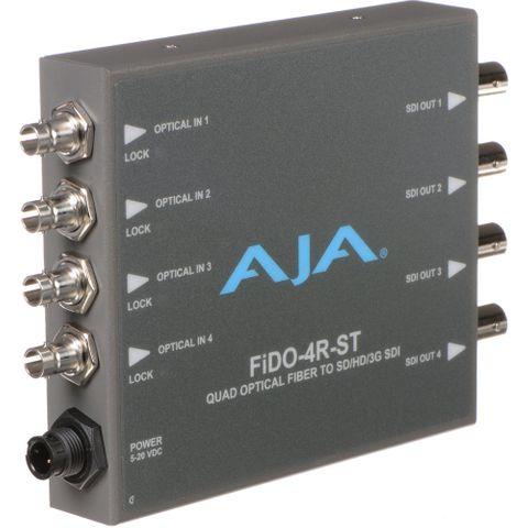 AJA FiDO Quad-Channel ST Fiber to 3G-SDI Mini Converter