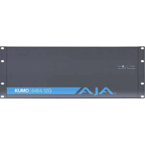 AJA Kumo 64x64 Compact 12G-SDI Router, with 1 Power Supply