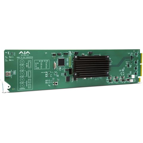 AJA openGear Ultra HD 4K/2K/HD/SD HDMI 2.0 to 3G-SDI