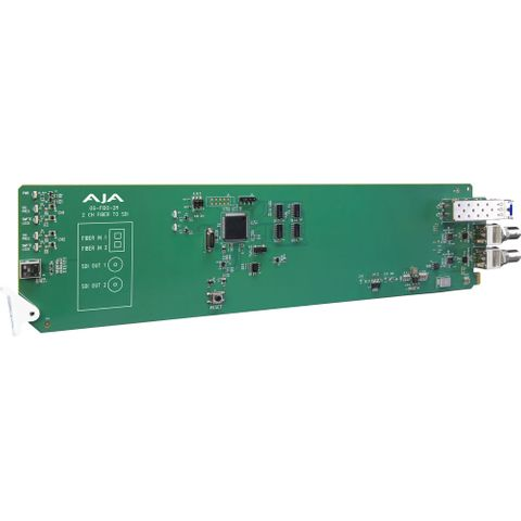 AJA OG-FiDO-2R openGear 2-Channel Single Mode LC Fiber to 3G