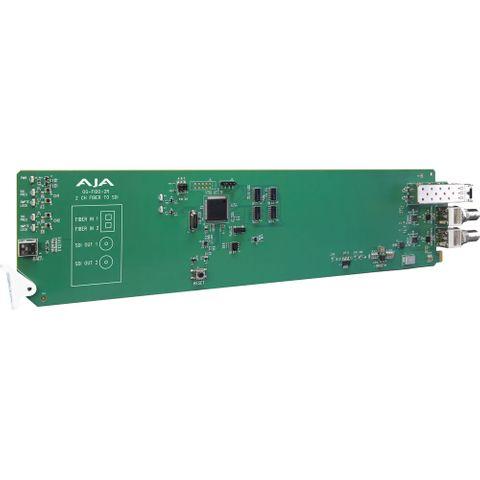 AJA OG-FiDO-2R-MM openGear Fiber to 3G-SDI Receiver