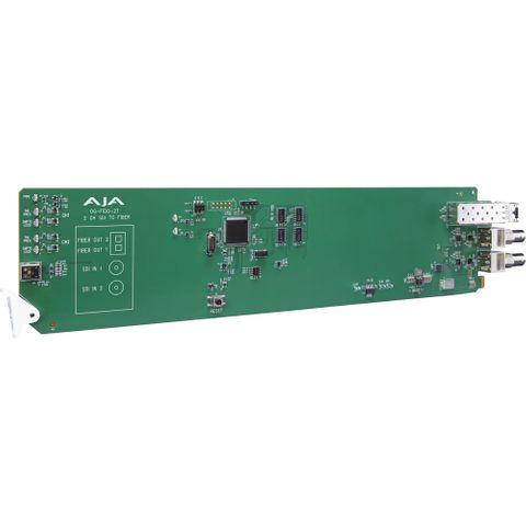 AJA OG-FiDO-2T-MM openGear 3G-SDI to LC Fiber Transmitter