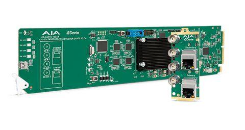 AJA OG-DANTE-12GAM 12G-SDI/DANTE 64-Ch Embedder/Disembedder