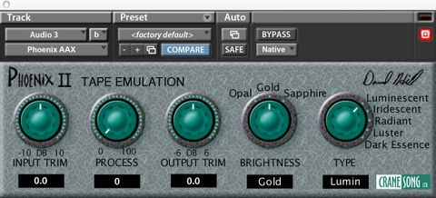 Crane Song Phoenix II - Tape Emulation for PT 10,11