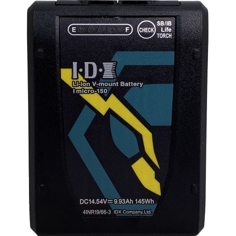 IDX Imicro-150 145Wh  Li-ion V-Mount battery with 2x D-Tap