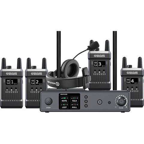 Hollyland Full-Duplex Intercom System with 4 Transceivers