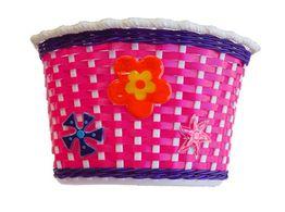 Kids Weave Basket Pink/Purp/Wh