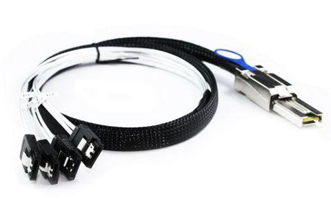 1m External mini-SAS to 4x SATA