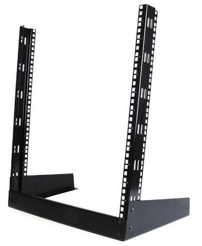 12RU 2-Post open frame desktop rack Serveredge
