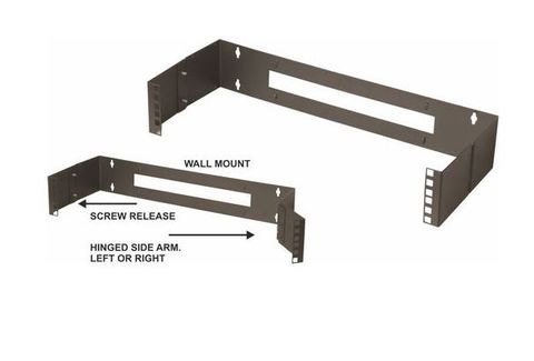 "6RU 19"" 195mm deep hinged wall bracket"