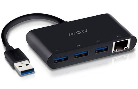 3-Port USB 3.0 Alogic Super Speed hub & Gb ethernet adapter