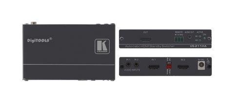 HDMI Automatic standby manual 2x1 switcher w/ analog audio