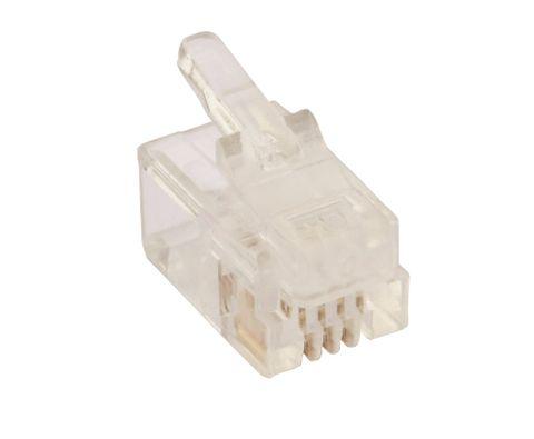 RJ9 4P4C Flat stranded modular plug connector