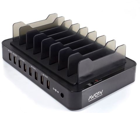 VROVA 8-bay USB desktop charging station 12A/5V output