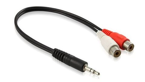 3.5mm to 2x RCA audio leads