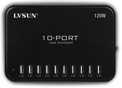 USB INTELLIGENT CHARGER 10 PORT 120W - HUB
