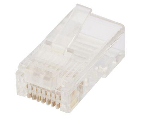 RJ45 8P8C Modular plug for flat stranded  cable - 100 pk