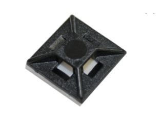Self Adhesive UV Black Cable Tie Mount 30 mm Pkt 100