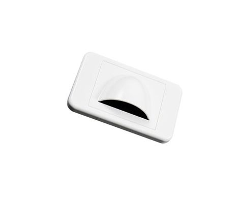 Wallplate with open hood bullnose white