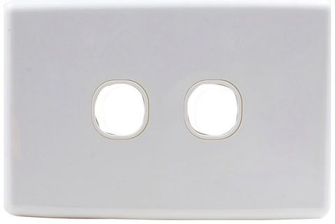 2-Gang Clipsal style wallplate