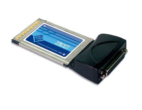 PCMCIA to 2-port DB25 parallel card adapter