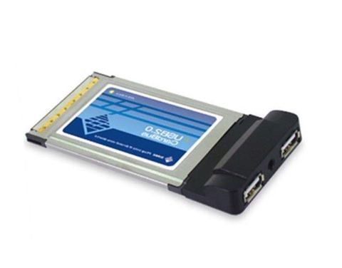 PCMCIA to 2-port USB card adapter