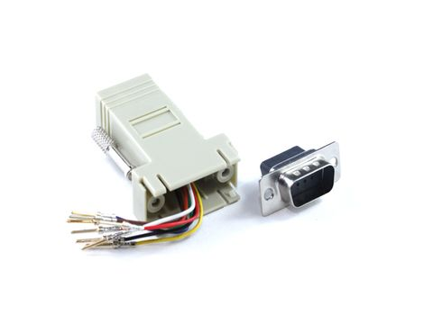 DB9 Male to RJ45 adapter