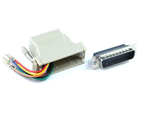 DB25 Male to RJ45 adapter