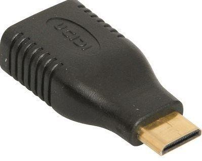HDMI to mini-HDMI adapter block F-M