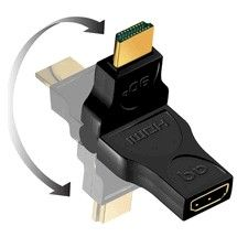 HDMI swivel adapter to HDMI M-F