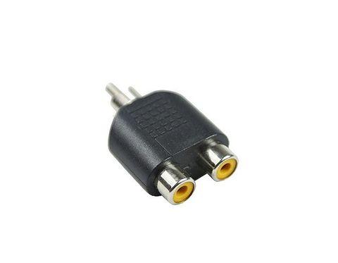 RCA plug to dual RCA sockets adapter