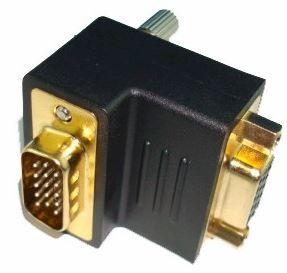 Right angle VGA adapter M-F