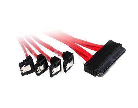 0.75m Internal SAS 32-pin to 4x right angle SATA