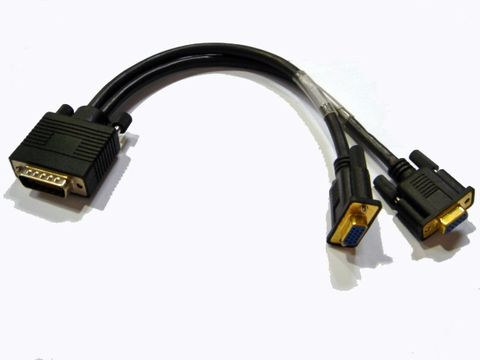30cm LFH59/DMS59 to dual VGA cable M-F