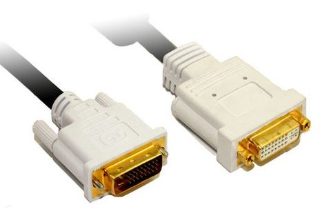 2m DVI-D dual link extension cable 28AWG M-F