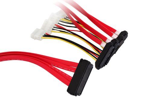 1m Internal SAS 32-pin to 4x 29-pin/4x Molex