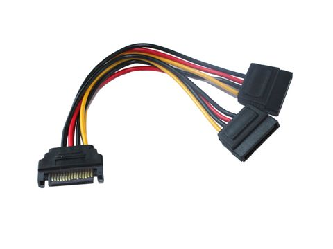 15cm SATA2 to dual SATA female power cable