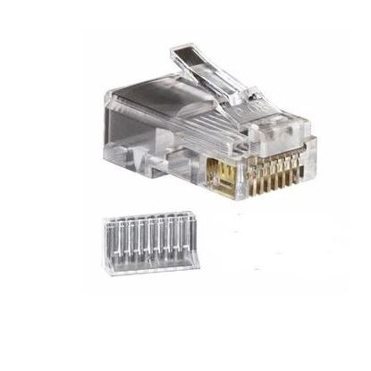 RJ45 Cat6 2-piece Solid connector 50-pk