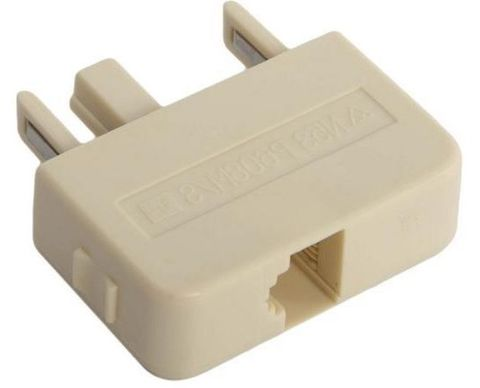 Modular plug adapter 3-pin to 6P4C 606 male