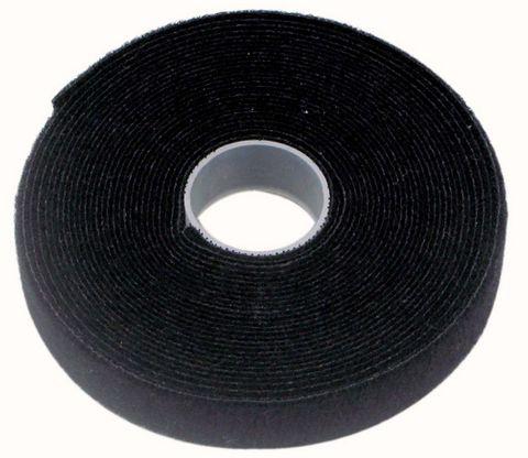 25mmx25m black Pro cable tie hook & loop
