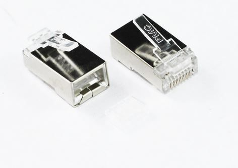 RJ45 Cat6 Solid and stranded  Shielded 2-piece connector