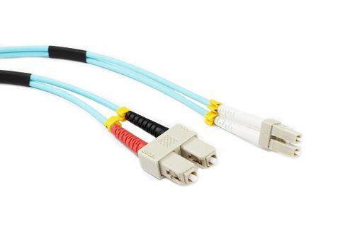 15m LC-SC OM3 MM duplex premium fibre lead